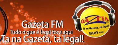 Ouvir agora ao vivo a Rádio GAZETA FM 99,9 de Cuiabá online no Guia Rádios MT mais